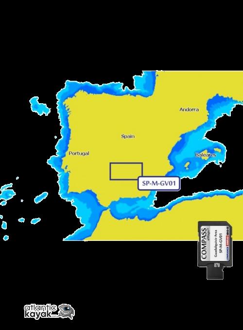 MAP COMPASS LARGE GUADALQUIVIR