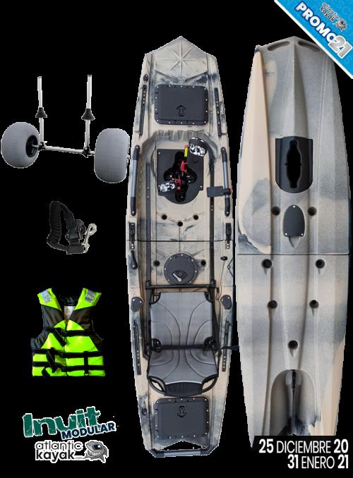 Aluminum paddle for kayak